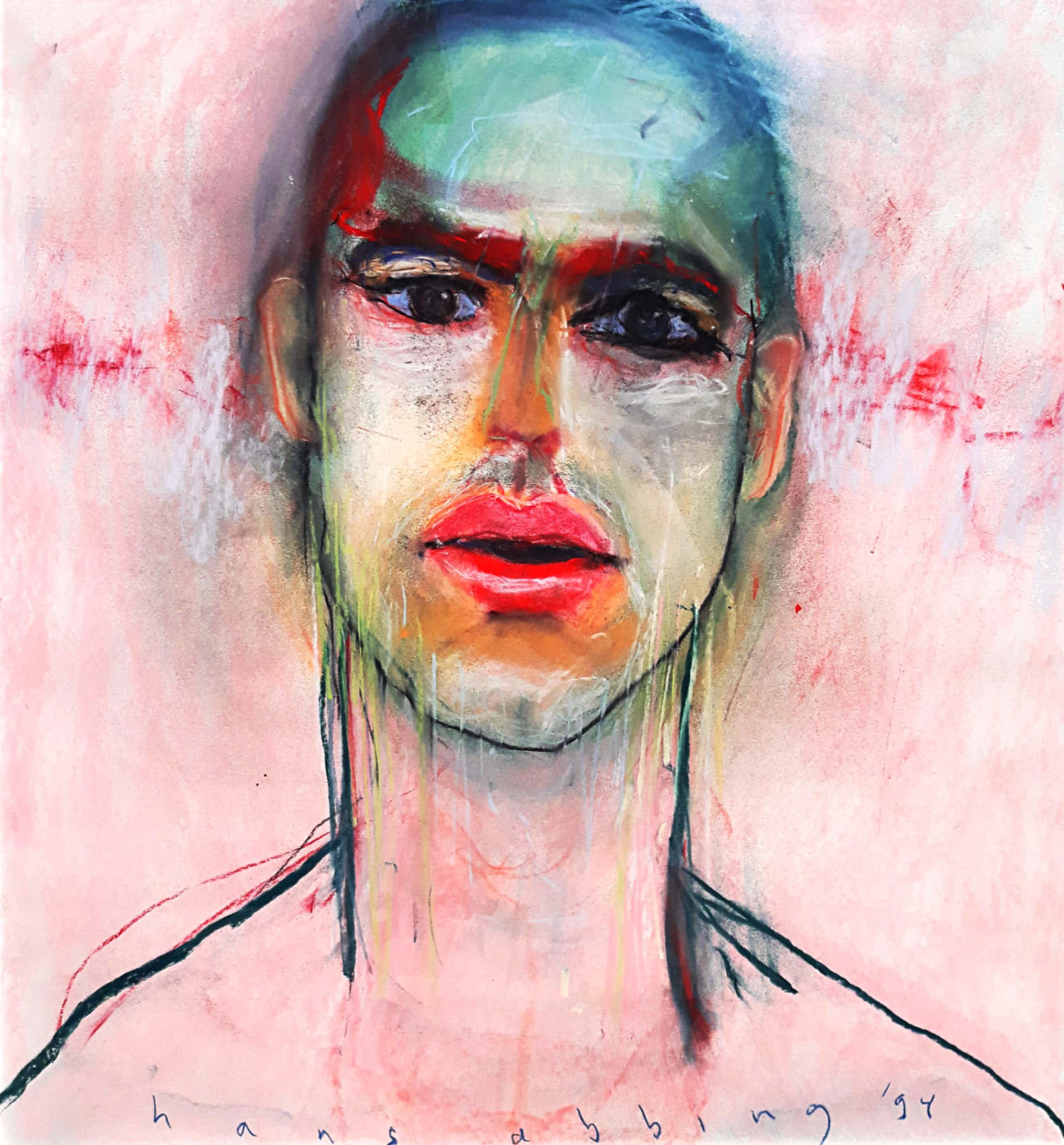 Hans Abbing - Portret van een man, tekening met pastelkrijt (ingelijst) kopen? Bied vanaf 375!