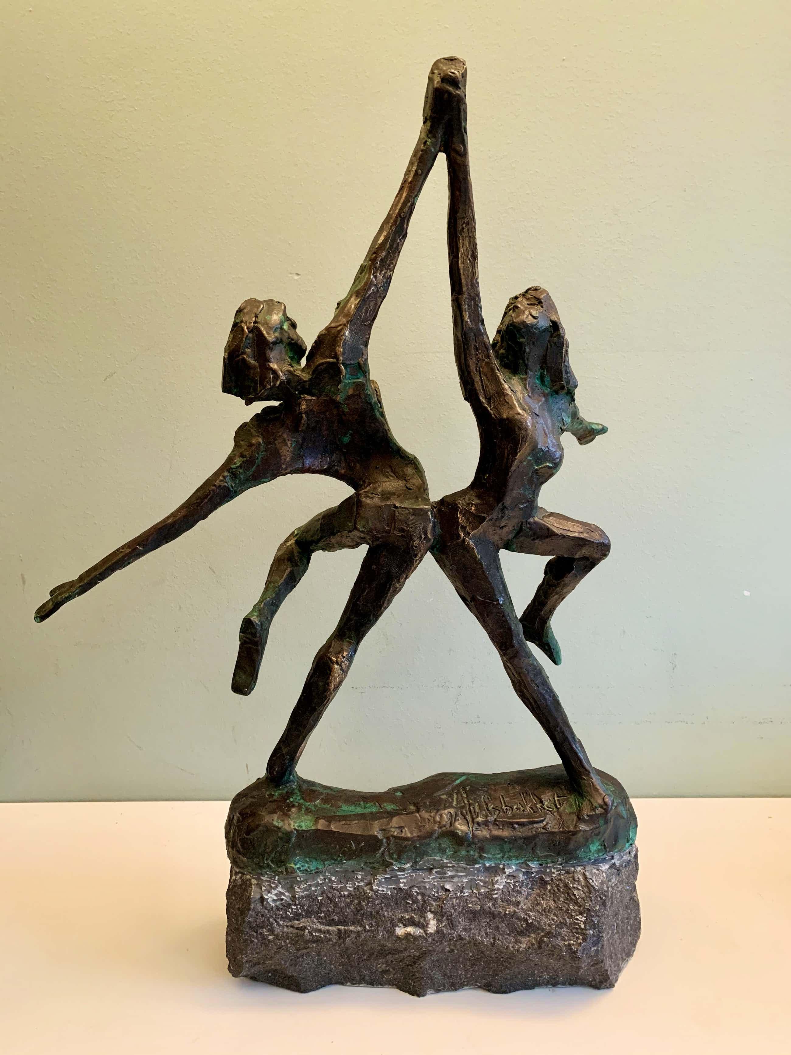 Jits Bakker - Dansend stel / dansende man en vrouw kopen? Bied vanaf 800!