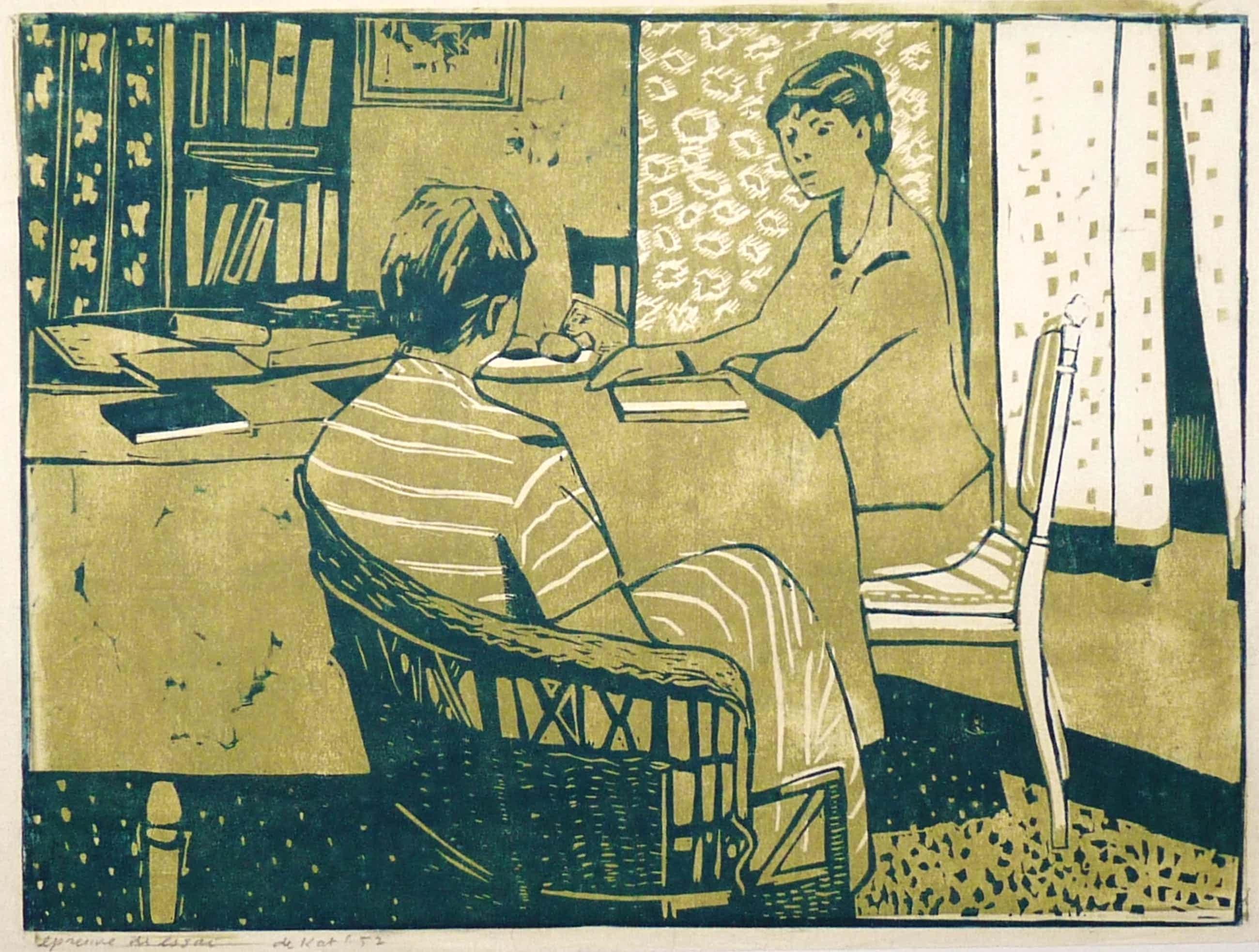 Otto B. de Kat - Twee vrouwen aan een tafel kopen? Bied vanaf 150!