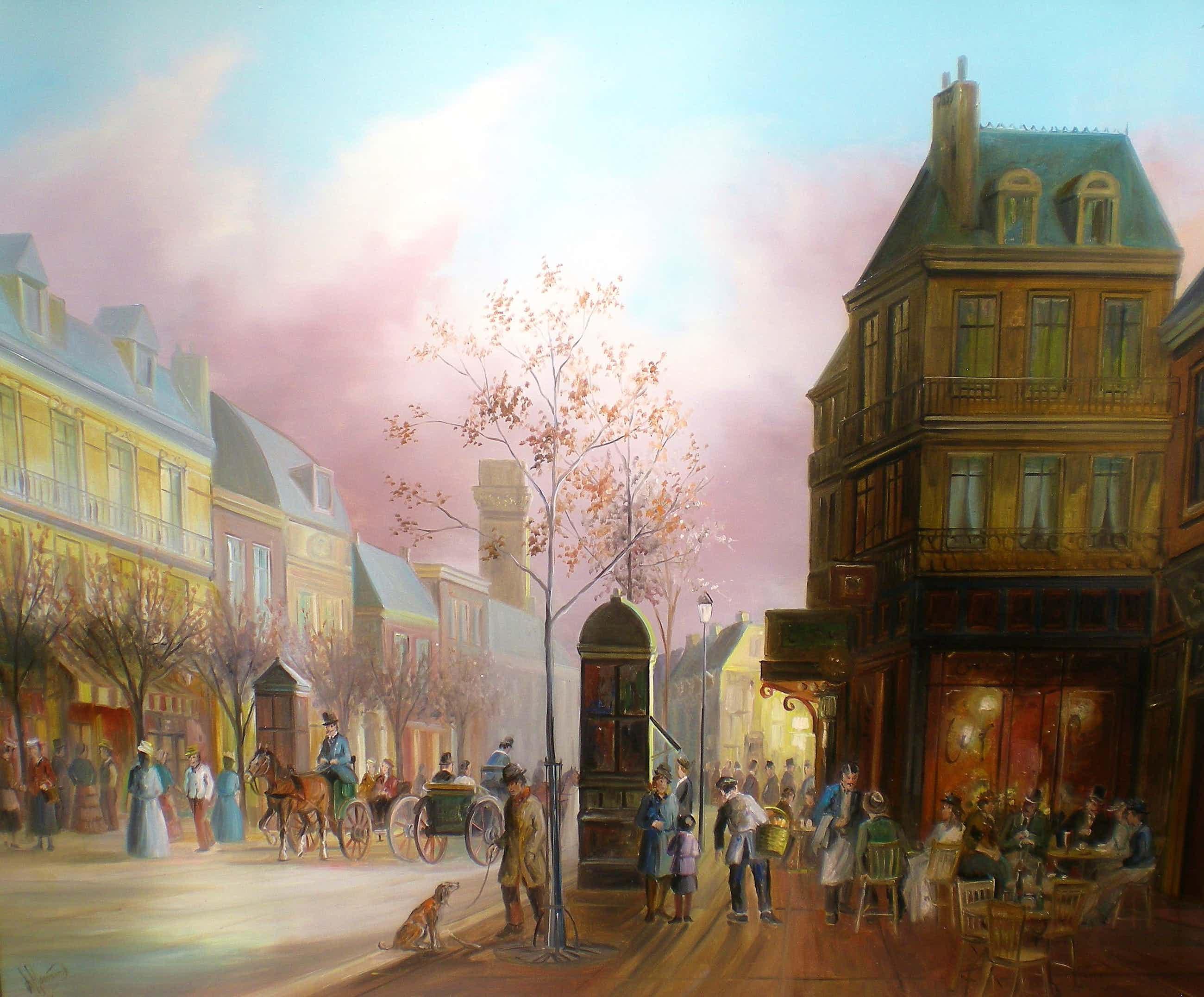 John Haanstra - Parijs jaren 20 Stadsgezicht kopen? Bied vanaf 900!