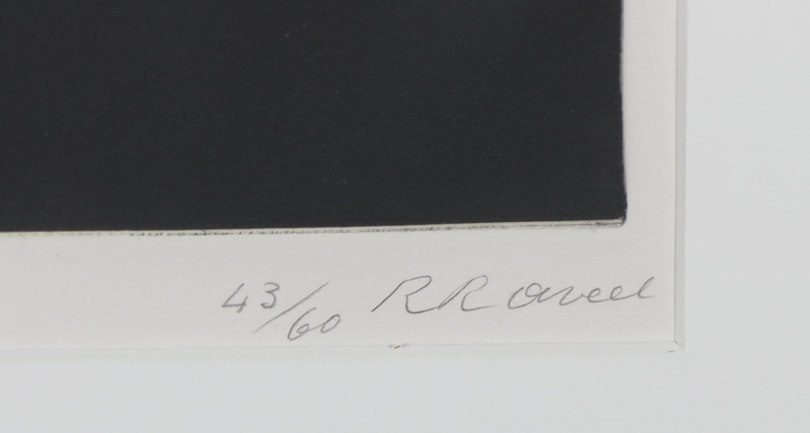 Roger Raveel - Ets uit de map Op bezoek bij Roger Raveel - Ingelijst kopen? Bied vanaf 400!