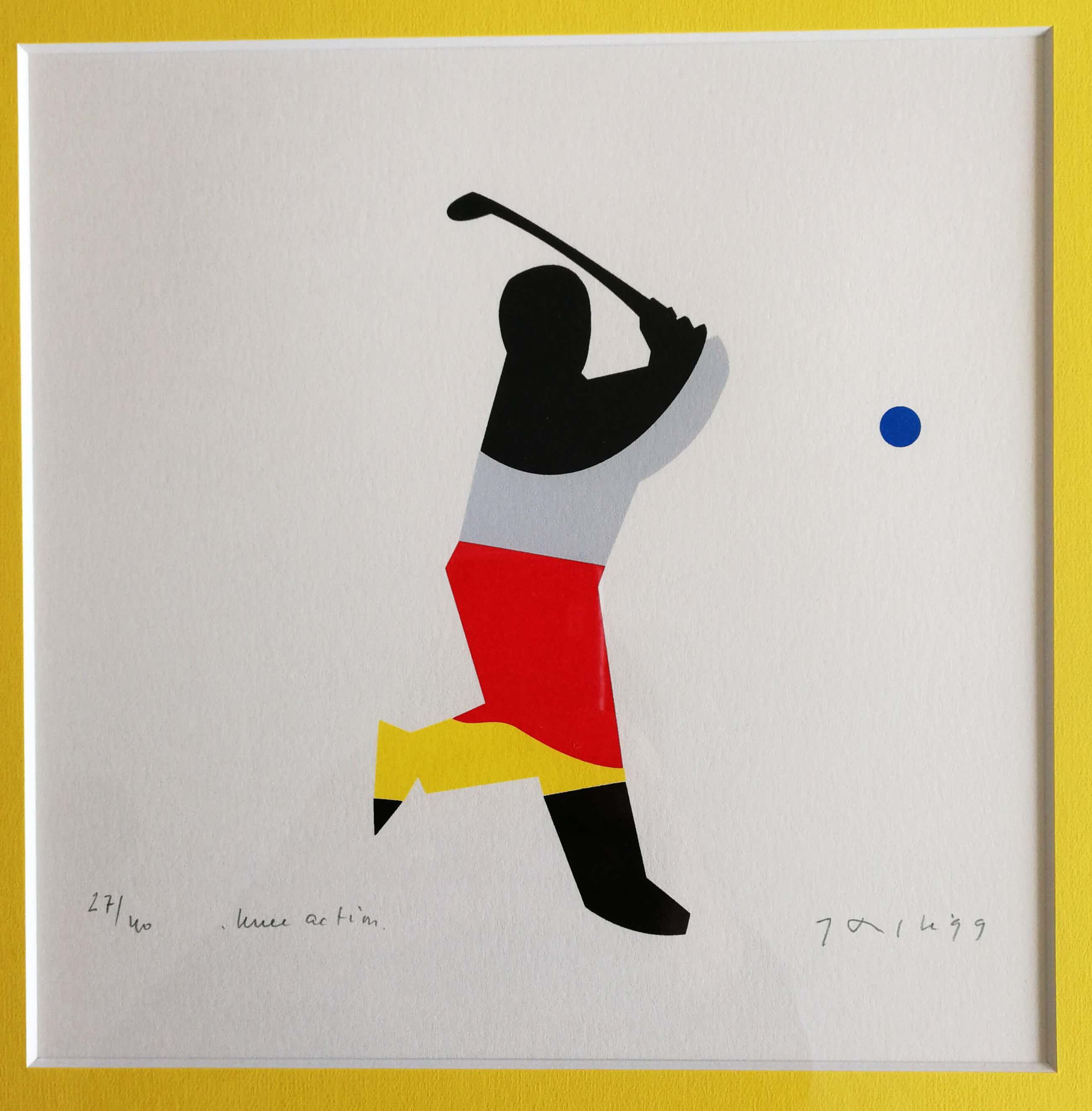 Jan Snoeck - Knee action. Golfspeler. kopen? Bied vanaf 79!
