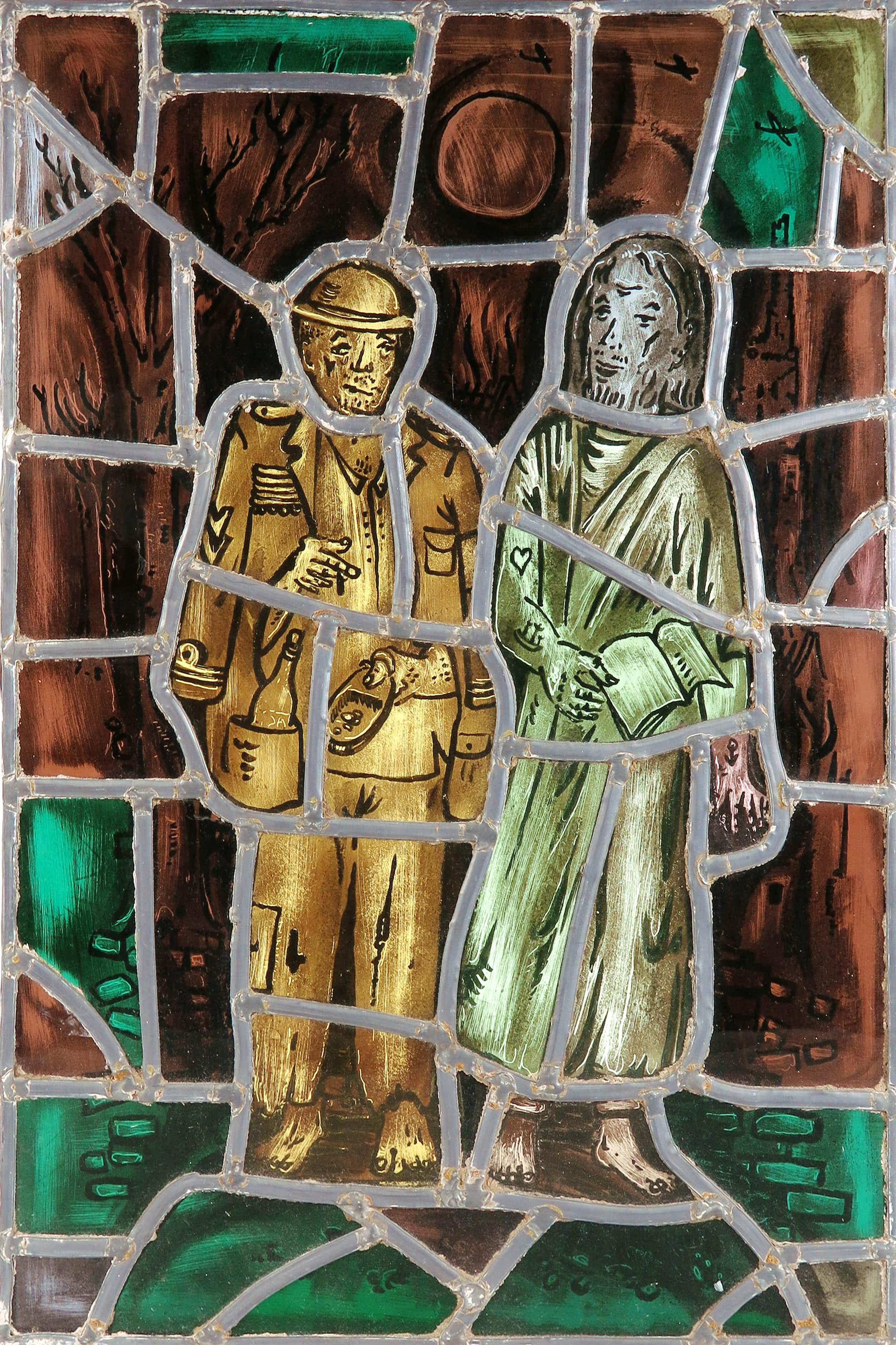 Theo van der Horst - Glas-in-lood, Gebrandschilderd raam kopen? Bied vanaf 75!