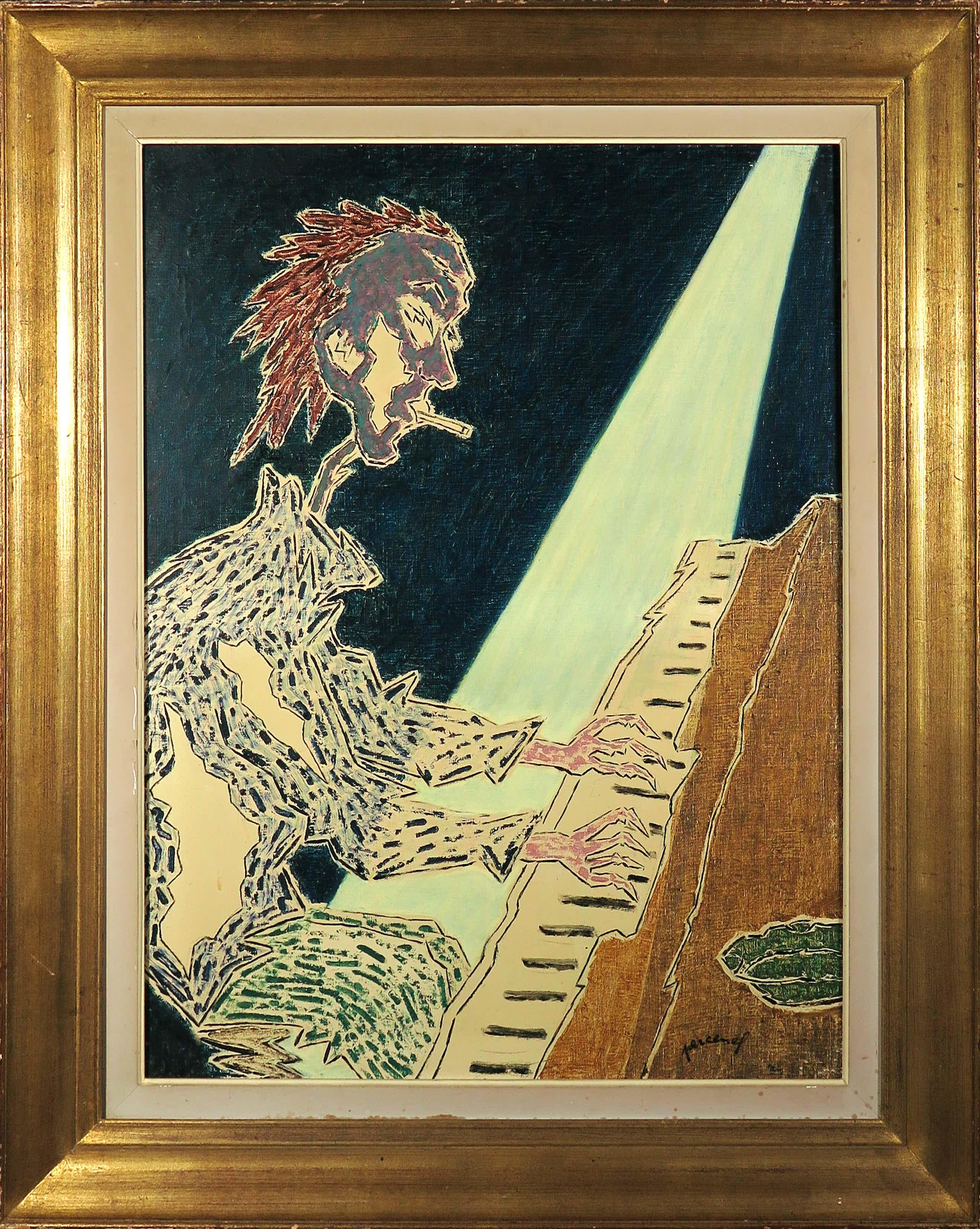 Percenel - Olieverf op doek, Pianiste - Ingelijst (Groot) kopen? Bied vanaf 240!