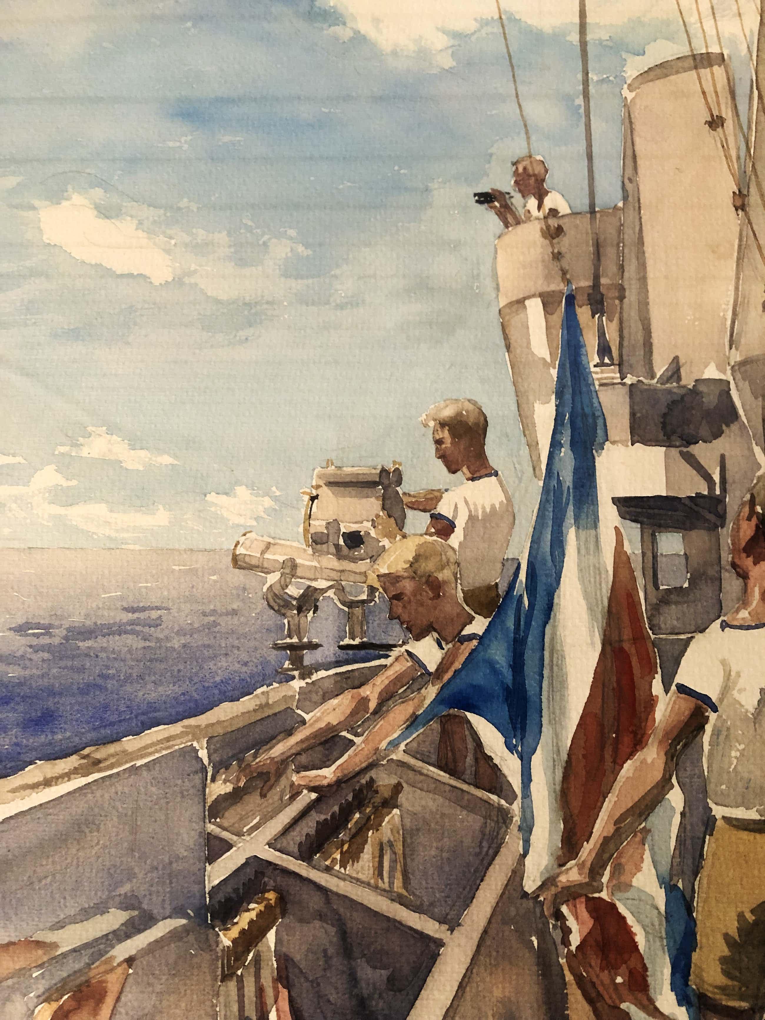 Flip Hamers - Seindek vliegdekschip Hr. Ms. Karel Doorman kopen? Bied vanaf 190!