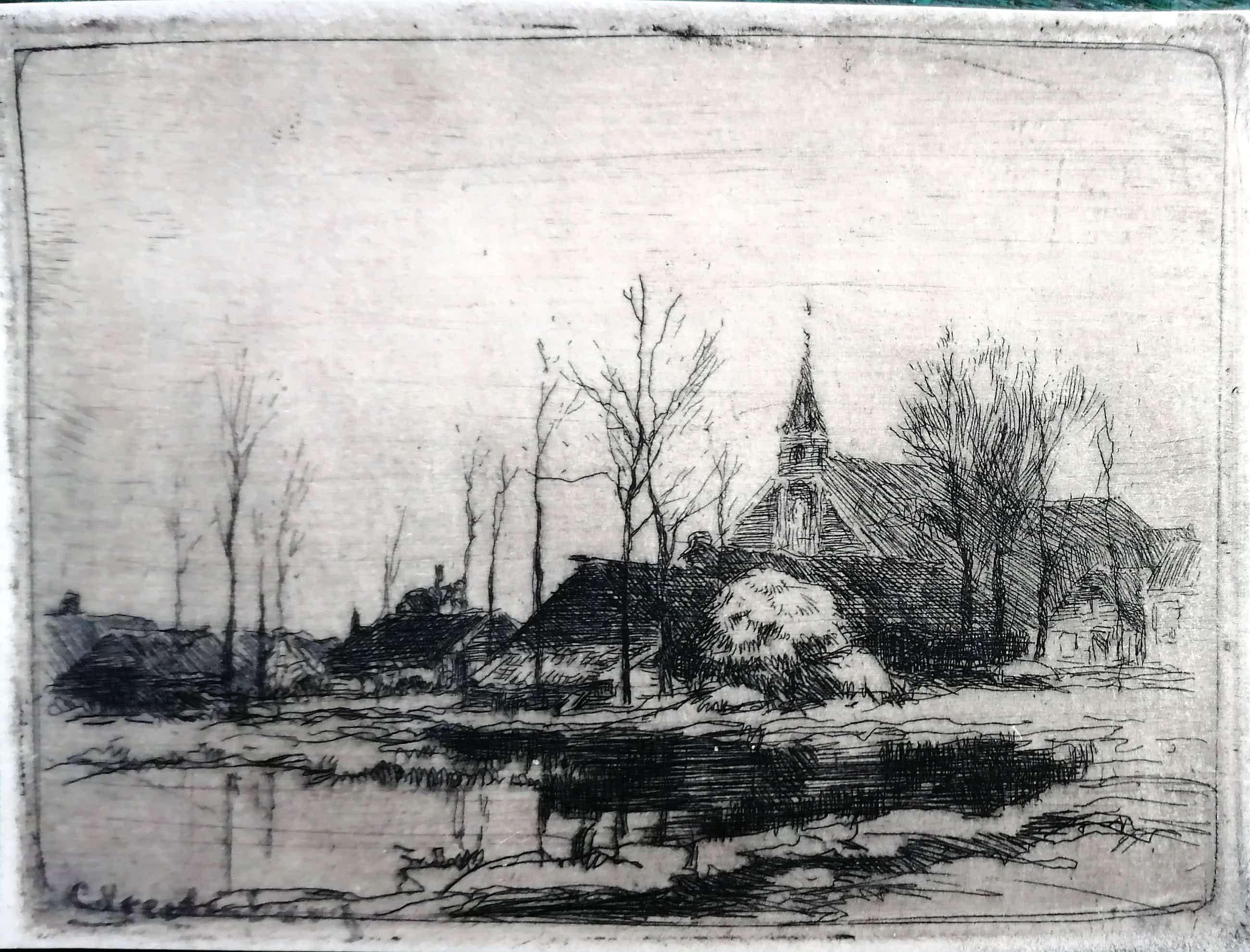 Cornelis Vreedenburgh - Kerkdorp aan plas kopen? Bied vanaf 45!