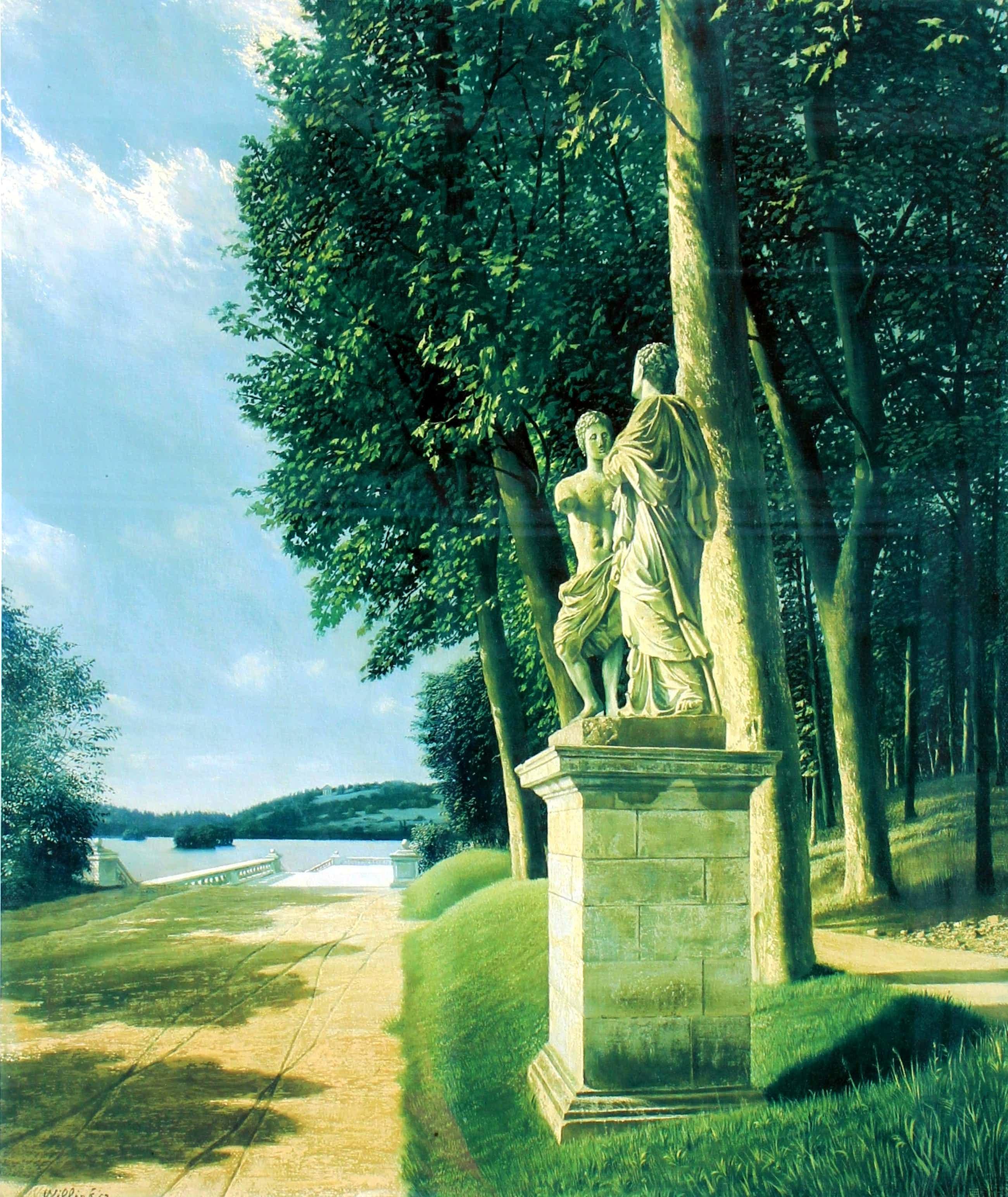 Carel Willink - Kleuren litho: Beelden in het park- 1952 (prachtige lijst!) kopen? Bied vanaf 319!