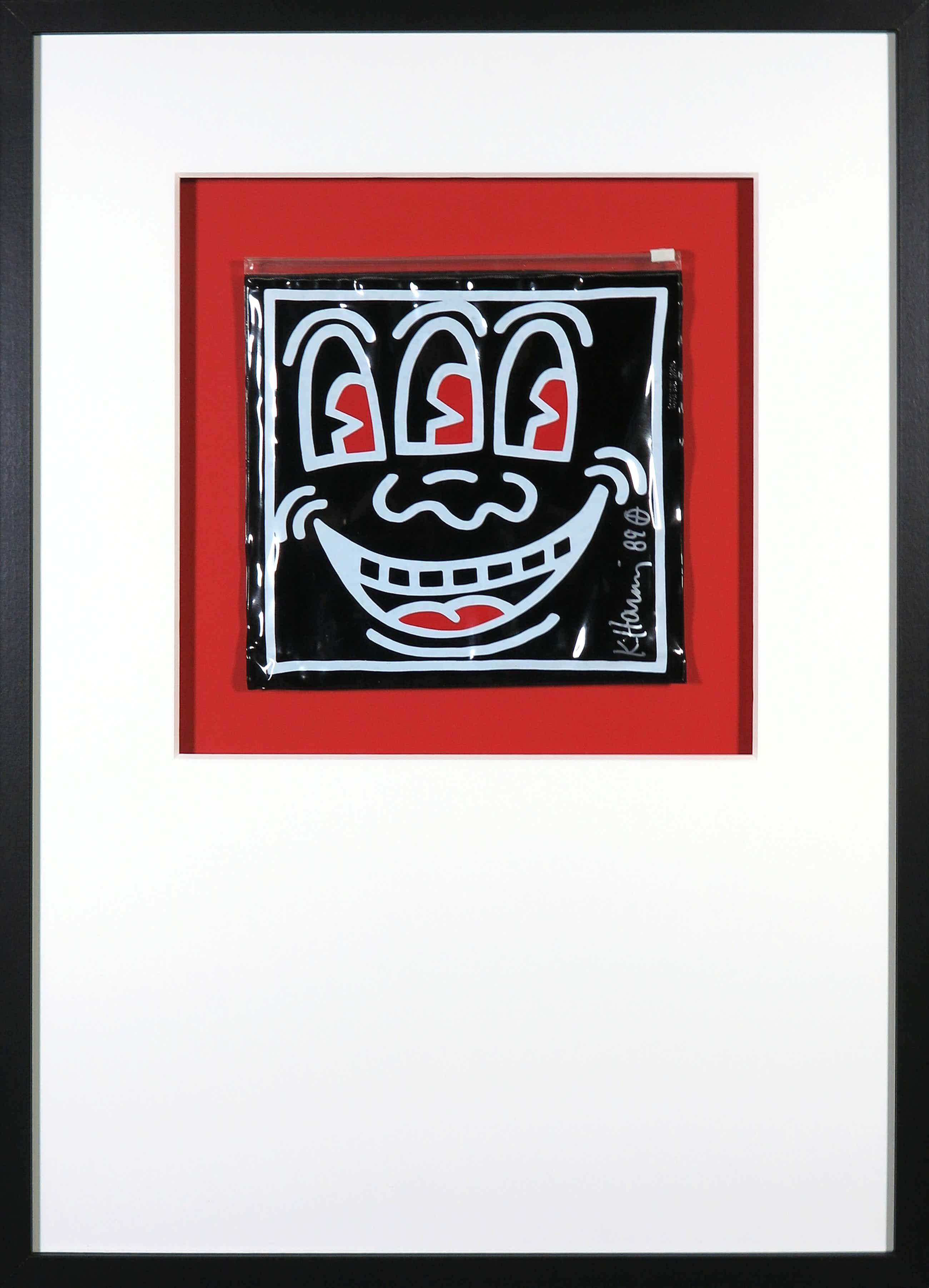 Keith Haring - Handgesigneerde Pop Shop toilettas - Ingelijst kopen? Bied vanaf 611!
