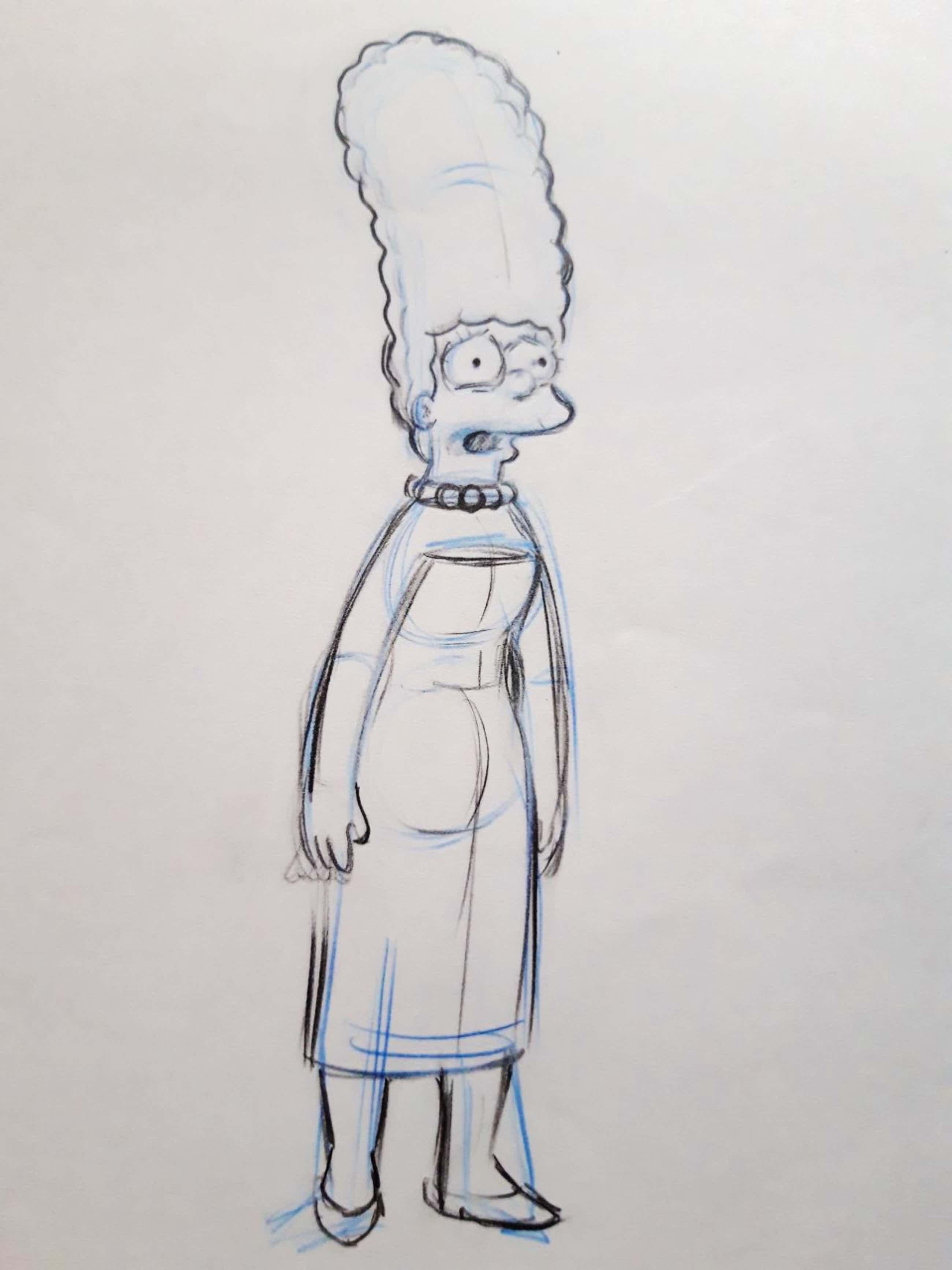 Matt Groening - The Simpsons, originele productie tekening Marge kopen? Bied vanaf 80!