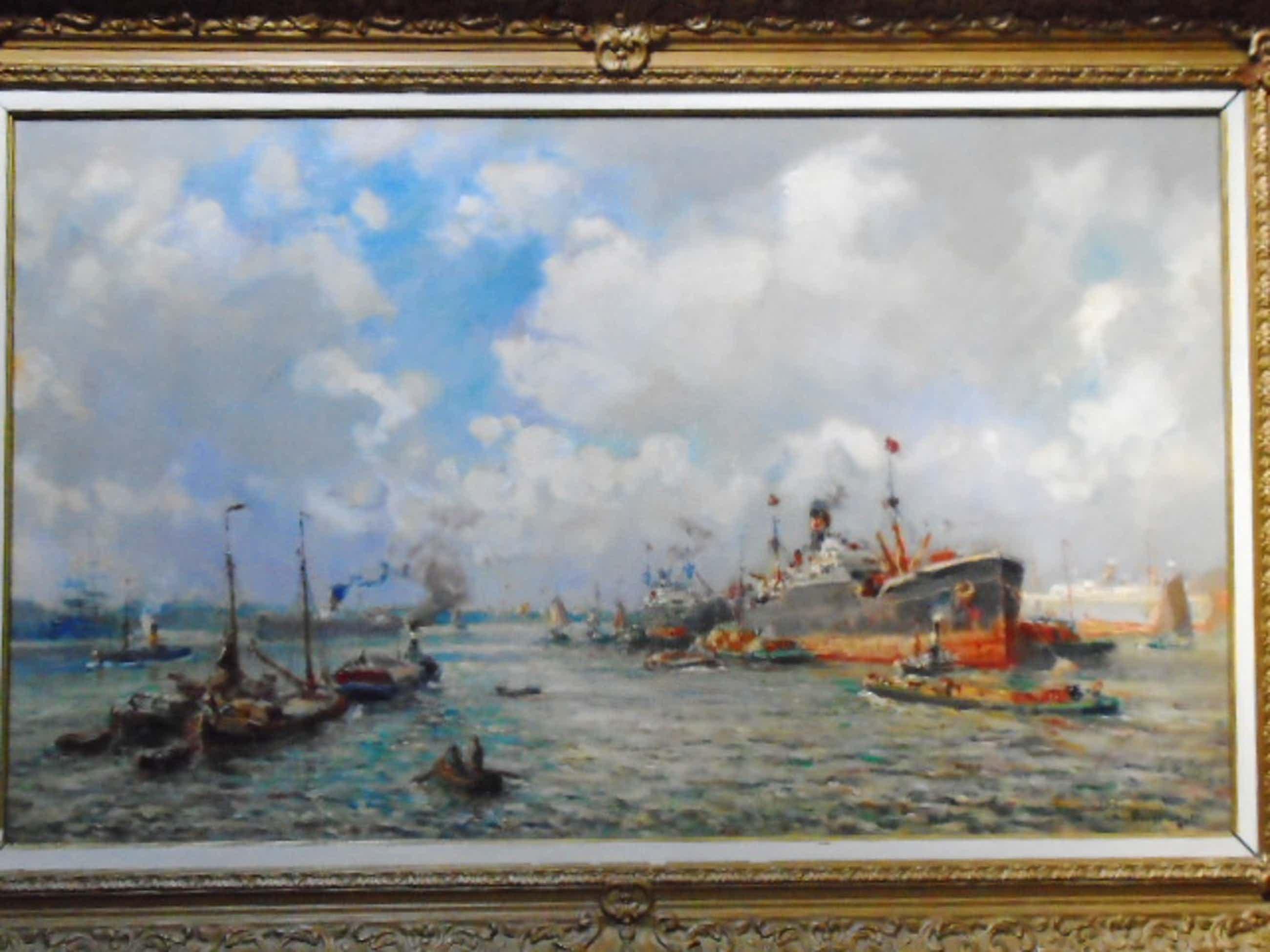 Evert Moll - Havengezicht, Rotterdam kopen? Bied vanaf 1225!