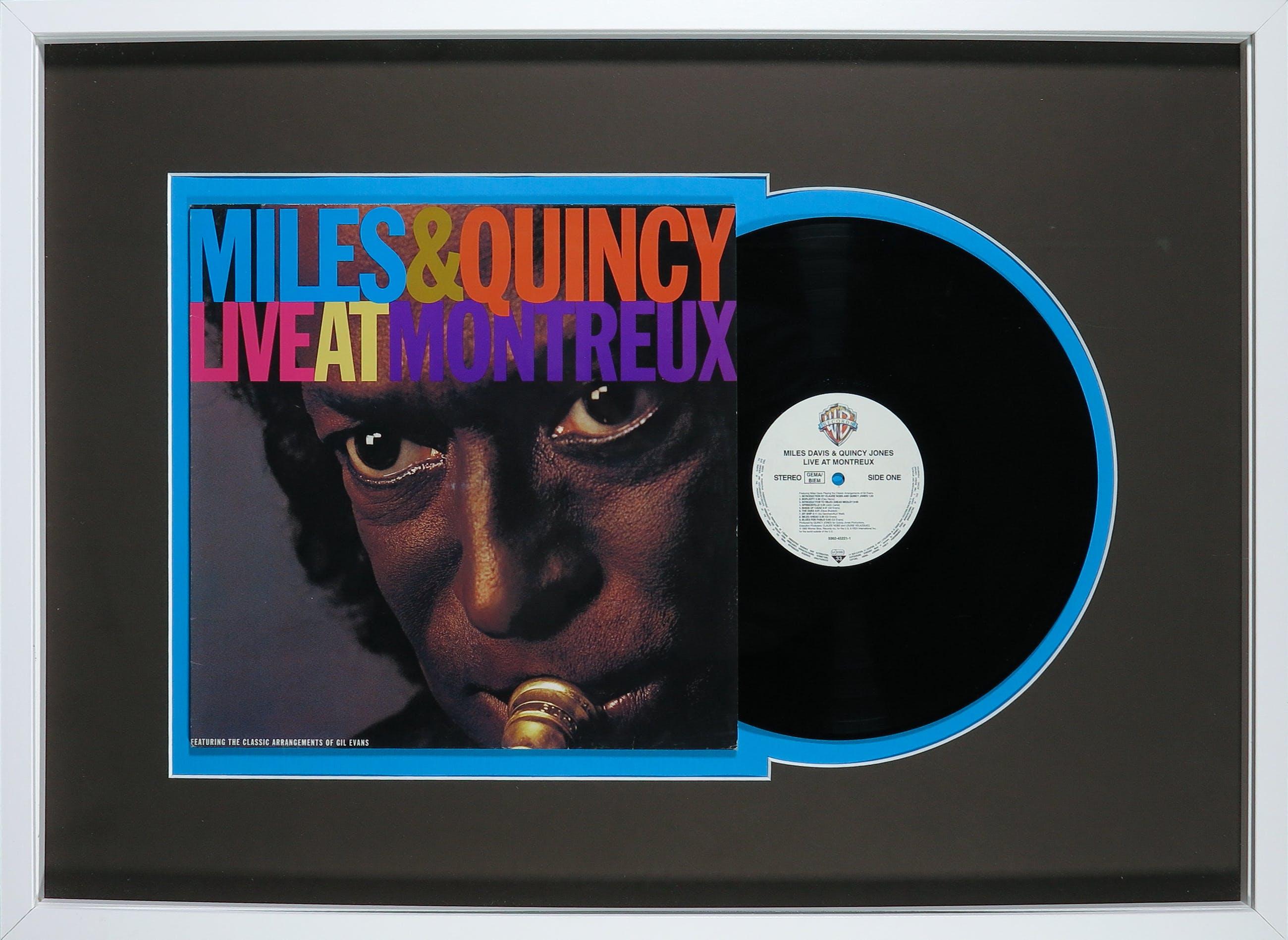 Miles Davis - & Quincy Jones - Live At Montreux - Ingelijst kopen? Bied vanaf 1!
